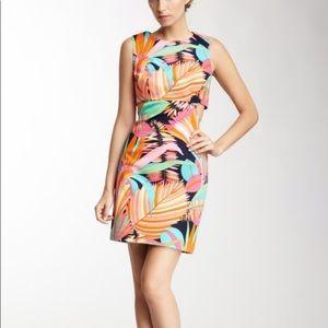 Trina Turk District Print Cutout Dress
